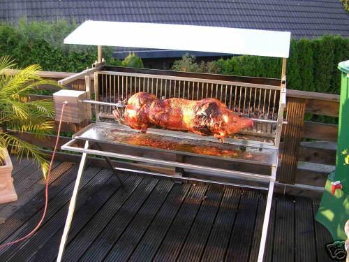 foto grill spanferkel grill holzkohle stk. Black Bedroom Furniture Sets. Home Design Ideas